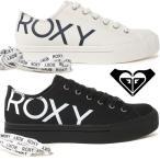 ロキシー スニーカー レディース RFT191314 白 ホワイト 黒 ブラック ローカット ビッグロゴ シューズ 紐靴