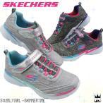 スケッチャーズ SKECHERS キッズ ジュニア スニーカー 81703L 女の子 キッズシューズ ベルクロ マジック 通園 通学 グレー ブラック
