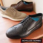 アキレス ソルボ 紳士靴 メンズ 革靴 ウィングチップ ビズスニーカー ビジカジ ビジネスシューズ 冠婚葬祭 本革 ASM3910