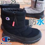 チャンピオン メンズ レディース 防水 スノーブーツ CP LS020W ウィンターブーツ ショートブーツ ブラック グレー 雪の日 キャンプ 防寒 防滑 雪靴 長靴 3E