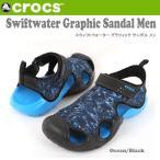 クロックス CROCS サンダル Swiftwater Graphic Sandal Men スウィフトウォーター グラフィック サンダル メン 204523 国内正規品  crs-066