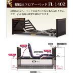送料、組立設置無料 引取処分可 超低床フロアーベッド マットレスセット フランスベッド FL�1402 セミワイド  介護ベッド リクライニング