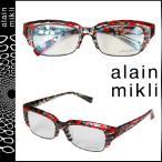 アランミクリ alain mikli メガネ レッド×ブラック セルフレーム メンズ レディース ユニセックス 眼鏡
