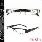 ミクリ mikli メガネ 眼鏡 ブラック M0822 COL01 メタルフレーム メンズ レディース サングラス