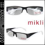 ミクリ mikli メガネ 眼鏡 ブラック × ホワイト ML1001 0001 セルフレーム メンズ レディース alain mikli サングラス