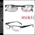 ミクリ mikli メガネ 眼鏡 ブラウン × ブルー ML1010 0002 メタルフレーム メンズ レディース alain mikli サングラス