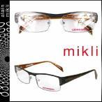 ミクリ mikli メガネ 眼鏡 ブラック × ブラウン ML1303 C001 メタルフレーム メンズ レディース alain mikli サングラス