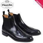 チャーチ 靴 レディース Churchs ブーツ サイドゴア ショートブーツ ウイングチップ Ketsby WG Polish Binder Calf 8706 DT0001 ブラック 12/21 再入荷