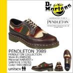 ドクターマーチン Dr.Martens ペンドルトン R13985230 5ホール ウイングチップ シューズ タン×ベージュ PENDLETON 3989 メンズ レディース