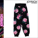 ジョイリッチ JOYRICH パンツ イージーパンツ メンズ スウェットパンツ ブラック 8BIT FLORAL PANTS