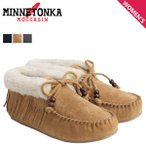 ショッピングミネトンカ ミネトンカ ブーツ MINNETONKA レディース ボアモカシン フリンジ スリッパー ブーティ FRINGE SLIPPER BOOTIE