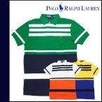 メンズ ポロ ラルフローレン POLO RALPH LAUREN ヴィンテージ 半袖 ポロシャツ ポニーロゴ ボーダー柄 3カラー