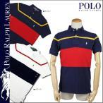 ポロ ラルフローレン POLO by RALPH LAUREN ポロシャツ ネイビー ホワイト 460843 ポニー コットン メンズ