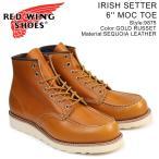 レッドウィング RED WING アイリッシュセッター ブーツ IRISH SETTER 6INCH MOC TOE 6インチ Dワイズ 9875 レッドウイング メンズ ブラウン 8/2 新入荷