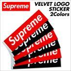 シュプリーム Supreme ステッカー ボックスロゴ VELVET LOGO STICKER シール ベルベット レッド ブラック 7/21 新入荷