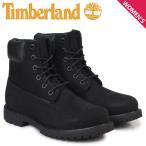 ティンバーランド Timberland ブーツ レディース 6インチ WOMENS 6INCH PREMIUM WATERPROOF BOOTS 8658A Wワイズ プレミアム 防水 ブラック
