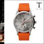 トリワ TRIWA 腕時計 シルバー × オレンジ STIRLING LANSEN CHRONO ORANGE CLASSIC CANVAS メンズ レディース LCST102