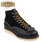 ウエスコ WESCO 6インチ カスタム ジョブマスター ブーツ 6INCH CUSTOM JOBMASTER レザー スエード メンズ ブラック 1061010 ウェスコ