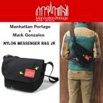 マンハッタンポーテージ Manhattan Portage ナイロン メッセンジャーバッグ JR (SM) マーク・ゴンザレス ブラック 1605-JR-MG-17-BLK