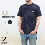 フレッドペリー FRED PERRY ウェア バーティカル ストライプ ピケ Tシャツ VERTICAL STRIPE PIQUE T-SHIRT M8656 129(スノーホワイト) 608(ネイビー)