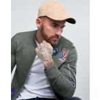 メンズ 男性用 ベースボール キャップ 帽子 メンズファッション ファッション ファッション小物 財布 RIVER ISLAND DISTRESSED BASEBALL CAP IN TAN