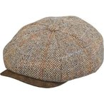 メンズ 帽子 キャップ Stetson STW280 Harris Tweed