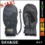 SAVAGE サベージ スノーボードグローブ ミトン M.I.T BLACK