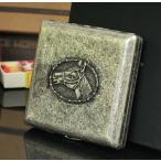 真鍮製 馬 ホース 柄 シガレットケース タバコケース たばこ入れ ギフト 趣味・コレクション 喫煙具(ジッポ・パイプ・灰皿)
