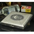 真鍮製 太極図柄 シガレットケース タバコケース たばこ入れ ギフト 趣味・コレクション 喫煙具(ジッポ・パイプ・灰皿)