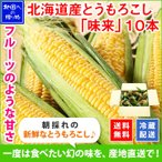 とうもろこし 北海道産 お取り寄せ お土産 美味しい トウモロコシ 味来 みらい 10本 約4.3kg BBQ バーベキュー グルメ ギフト プレゼント 食べ物