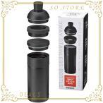 丸辰(Marutatsu) 缶・ペットボトルを保冷保温 真空2層 ステンレスボトル ブラック (500ml缶・PETボトル・そのまま