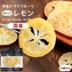 ドライフルーツ 国産 レモン 小袋 35g 輪切り 皮まで美味しい 酸味控えめ ドライレモン ポイント消化 南信州菓子工房 ギフト ヨーグルトに