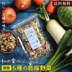 国産 乾燥野菜ミックス 私の楽ベジ 100g 5種の国産野菜 ドライ野菜 干し野菜 送料無料   保存食 主婦の味方 生野菜約1kg分