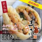 【送料無料・国産】飯田おやきにく6個セット こだわりの原料を使ったおやき+焼肉 具がぎっしり、大ボリューム170g