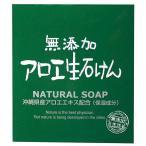 せっけん 無添加 アロエ 生 石鹸 むてんか 石けん 固形 アロエエキス配合 保湿成分 植物性 80g 無香料 無着色 パラベンフリー バスソープ お風呂