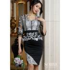 キャバドレス キャバ ドレス 大きいサイズ キャバクラ キャバ嬢 ミニドレス スカラップ刺繍レースドレープワンピース