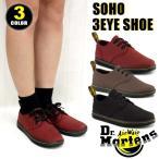 ドクターマーチン Dr.Martens SOHO 3-EYE SHOE 3ホール ローカット キャンバス レース アップスニーカー レディース (R13528)