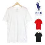 ポロ ラルフローレン Tシャツ メンズ クルーネック 半袖 クラシック フィット アンダーウェア インナー 綿 丸胴 刺繍