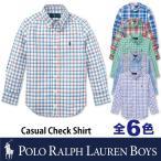 ショッピングゾロ ゾロ目 ポロ ラルフローレン ボーイズライン POLO Ralph Lauren BOYS チェック コットン 長袖シャツ ワイシャツ メンズ