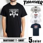 スラッシャー THRASHER スケートゴート 半袖 Tシャツ SKATE GOAT スケートゴット クルーネック メンズ