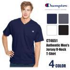 チャンピオン Champion Vネック 半袖 Tシャツ 無地 トップス ワンポイント Cロゴ 刺繍 綿 メンズ