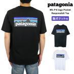 パタゴニア Tシャツ メンズ 半袖 P-6ロゴ・ポケット・レスポンシビリティー クルーネック バックプリント