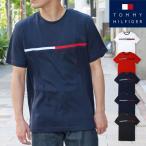 トミー・ヒルフィガー メンズ 半袖 Tシャツ トップス クルーネック コットン 大きいサイズ カジュアル ストリート (7849807)