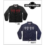 ≪1万円以上で送料無料≫<BR>INDEPENDENT <BR>FOUR OF A KIND WINDBREAKER<BR>【BK-XL,NAVY-L】<BR>【mi】