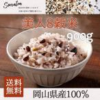 美人七穀米900g (国産雑穀100%使用) 大麦・紫麦・古代米黒米・古代米赤米・青大豆・もち発芽玄米・発芽ひ