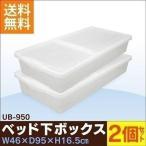 衣装ケース プラスチック ベッド下 UB-950 2個セット 隙間収納 すき間 クリア 薄型 収納ケース 収納ボックス 新生活応援 衣替え アイリスオーヤマ