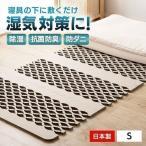 除湿マット すのこ型 TEIJIN ダブルインパクト シングル テイジン ベルオアシス すのこ 国産 湿気対策 吸湿シート DI0420BE-10