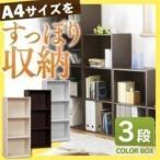 A4サイズが収納できるカラーボックス。 新生活
