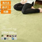 ラグ カーペット 3畳 ラグマット 厚手 洗える ホットカーペット対応 おしゃれ 200×300 マット 滑り止め付き 絨毯 じゅうたん アイリスプラザ