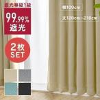 カーテン おしゃれ 遮光 1級 洗える 北欧 2枚セット 幅100 丈120〜210 IP リムーバル 幅100cm 2枚組み (D)